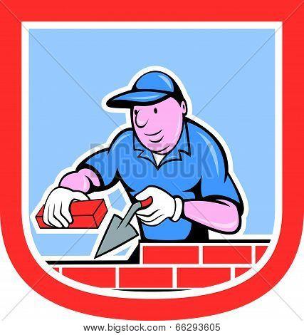 Bricklayer Mason Plasterer Worker Cartoon