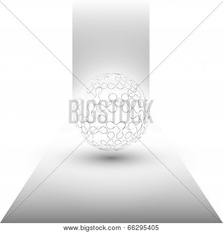 transparent sphere background vector