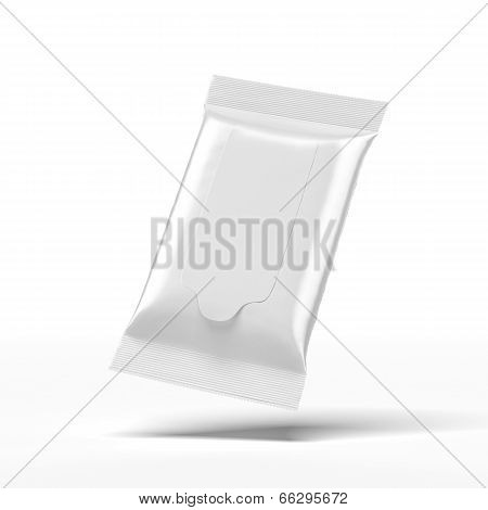 White wet wipes package