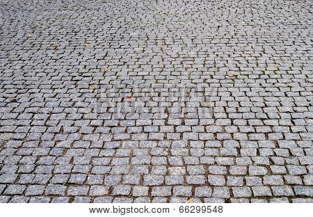 Perspective Background Of Cobblestone Pavement