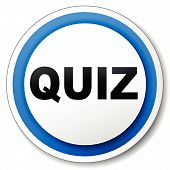image of quiz  - Vector illustration of black and blue quiz icon - JPG