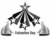 foto of christopher columbus  - Columbus Day holiday in America in shades of gray - JPG