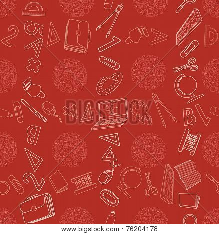 Seamless Texture With Abstract Pattern On Education Or Business.