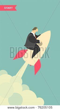 Businessman On Missile