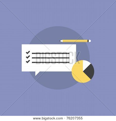 Customer Service Survey Flat Icon Illustration