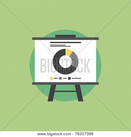 Market Statistics Flat Icon Illustration