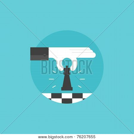 Business Strategy Flat Icon Illustration