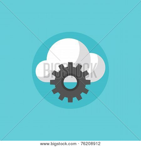 Cloud Services Flat Icon Illustration