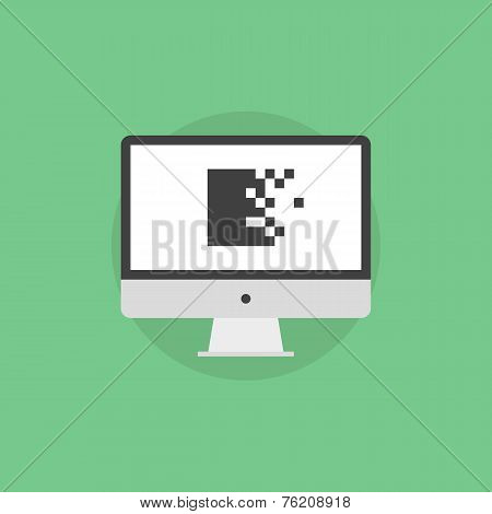 Data Encryption Flat Icon Illustration