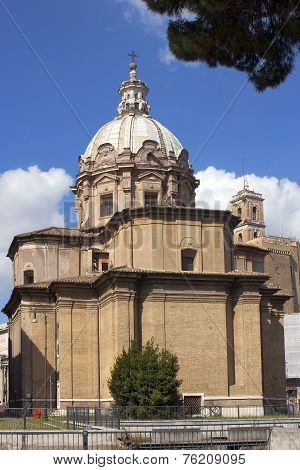 Church Of Santi Luca E Martina In Rome, Italy