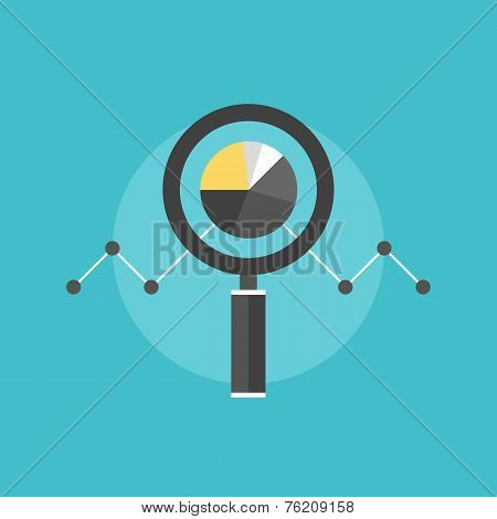 Data Analyzing Flat Icon Illustration