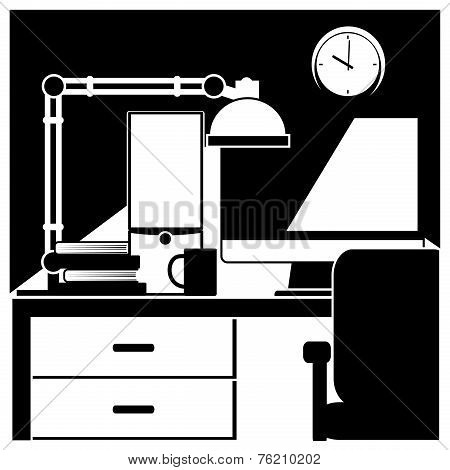 Desktop Workstation Black And White