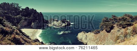 Seascape in Big Sur in California.