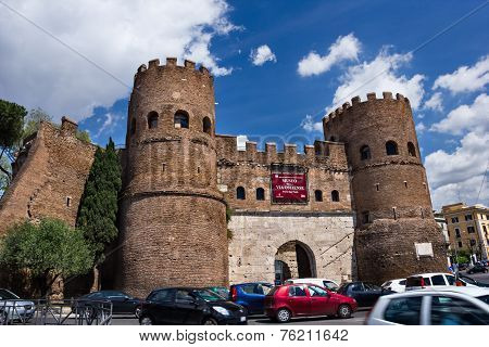 Porta San Paolo  in Rome Italy