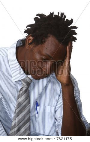 Worried African Businessman