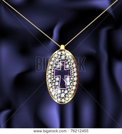 jewel pendant with cross