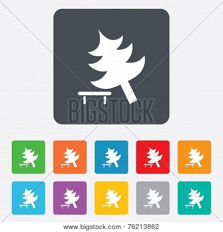 Tree sign icon. Break down tree symbol.