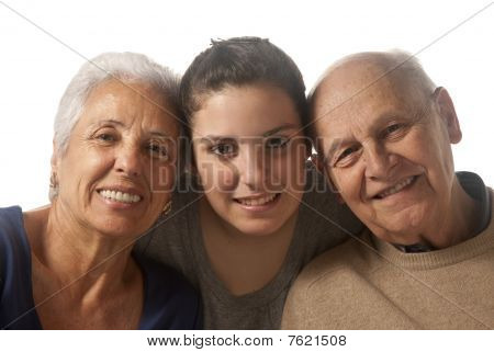 Grandparents With Granddaughter