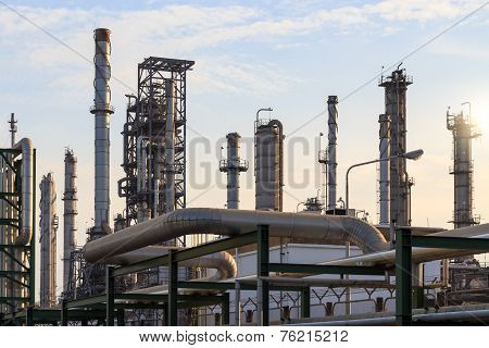 Oil Refinery Power And Energy Factory
