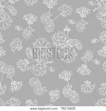 Neutral grey floral background
