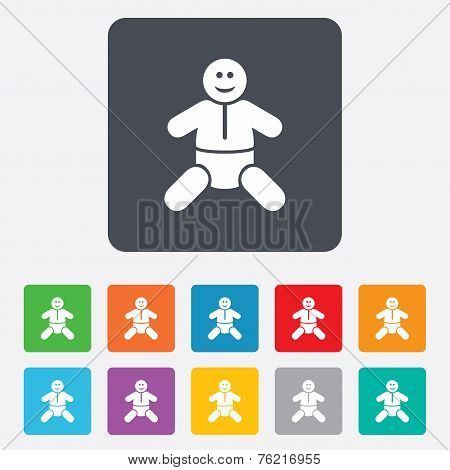 Baby infant sign icon. Toddler boy symbol.
