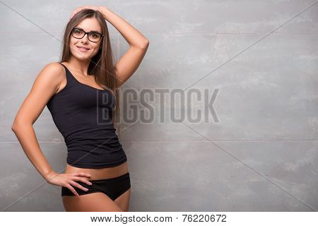 Athletic-looking young sexy girl