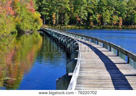 Boardwalk over Lake Juniper
