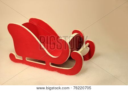Little Red and White Sled