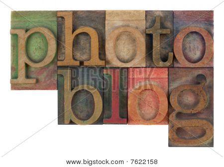Photoblog In Letterpress Wooden Type