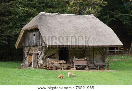 Old wooden rural barn