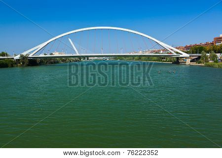 Modern bridge in Seville Spain - architecture background