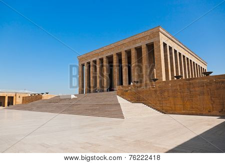 Mustafa Kemal Ataturk mausoleum at Ankara Turkey