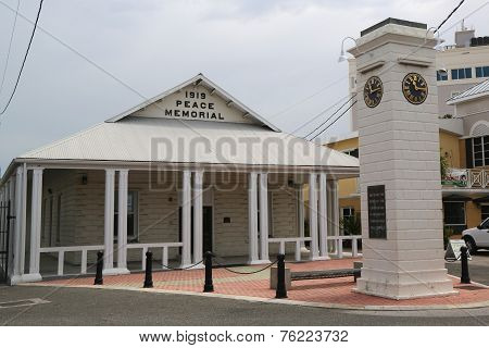 1919 Peace Memorial Building and clock tower commemorating the reign of King George V at George Town