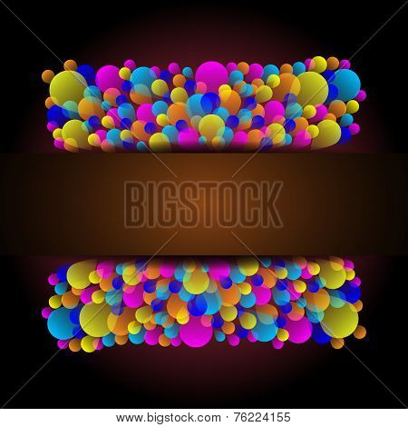 Beautiful Celebration Card With Colorful Balloon