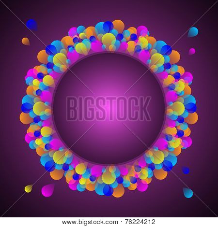 Gorgeous Celebration Card With Colorful Balloon