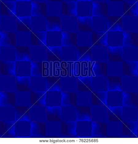 Abstract blue background pattern. Optical illusion. Repeating geometric tiles. Repetitive texture.