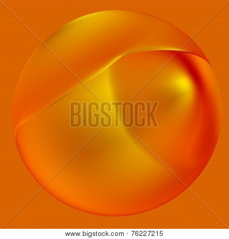 Shiny jewellery. Pearl necklace isolated element. Abstract orange background for artworks.