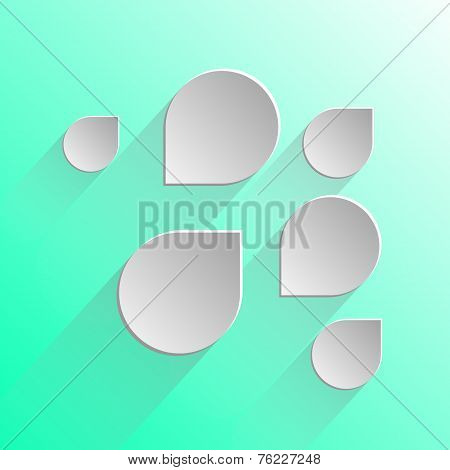 Design Speech Bubbles On Light Green Background