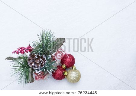 Christmas Composition Over White