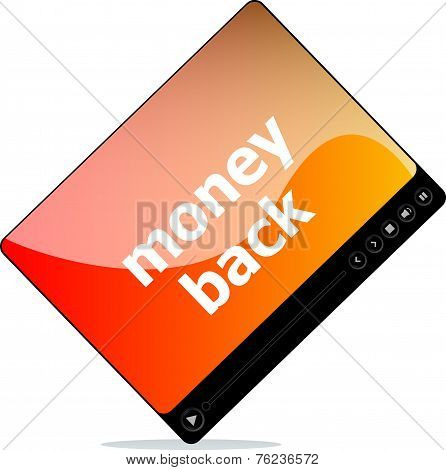 Video Movie Media Player With Money Back Word On It