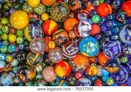 Background Of Marbles In Many Colors