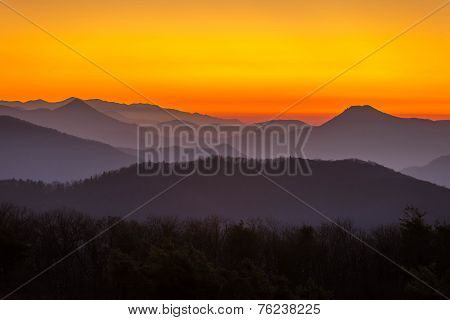 Mountain Sunset in Tennessee