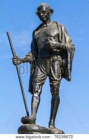 Mahatma Gahdhi statue in Udaipur, Rajasthan, India