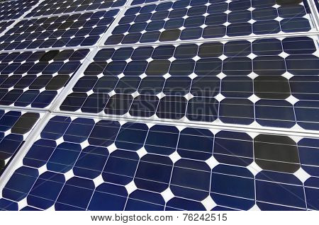 closeup of a photovoltaic panel for electric energy production