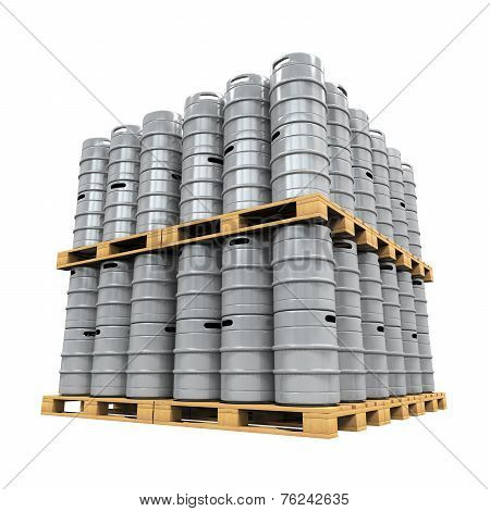 Pallet of Beer Kegs