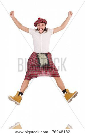 Scotsman isolated on the white