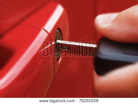 Key In Red Car