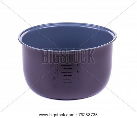 Lilac bowl with measuring scoop