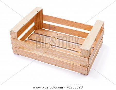 Empty Crate For Fruits And Vegetables