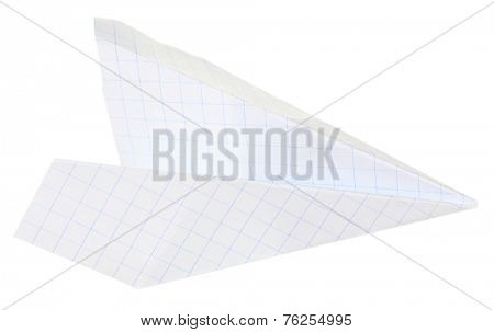 Origami airplane, isolated on white